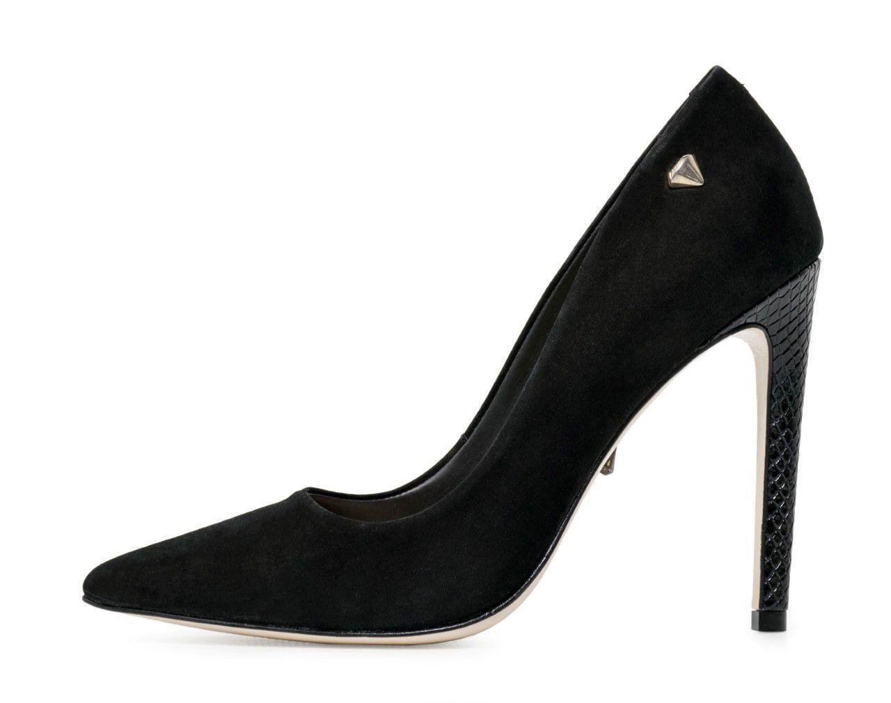 Scarpin Conceito Fashion Couro Nobuck Preto – Conceito Fashion