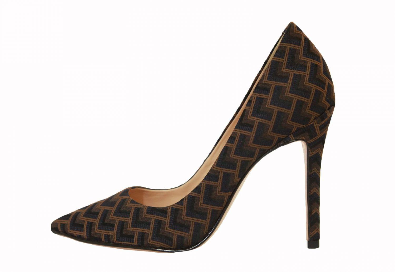 Scarpin Conceito Fashion Tecido Geométrico – Conceito Fashion