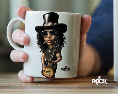 Caneca Exclusiva Mitos do Rock Slash