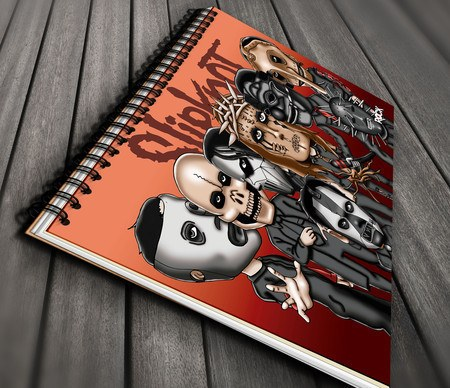 Caderno Exclusivo Mitos do Rock Slipknot