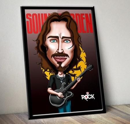 Pôster com Moldura Mitos do Rock Soundgarden