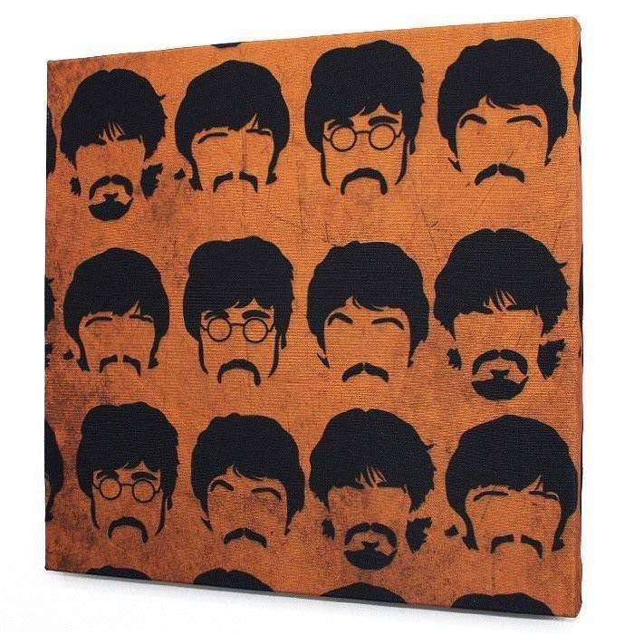 Tela Beatles Faces Orange – Rvalentim