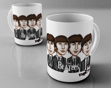 Caneca Exclusiva Mitos do Rock The Beatles