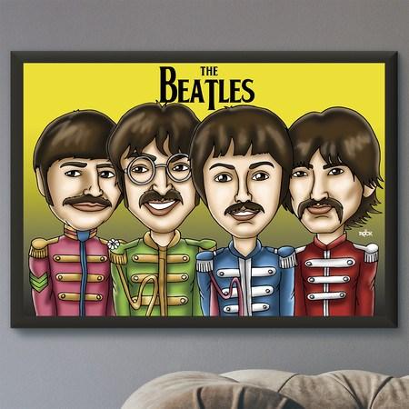 Pôster com Moldura Mitos do Rock The Beatles II