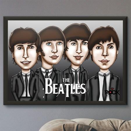 Pôster com Moldura Mitos do Rock The Beatles