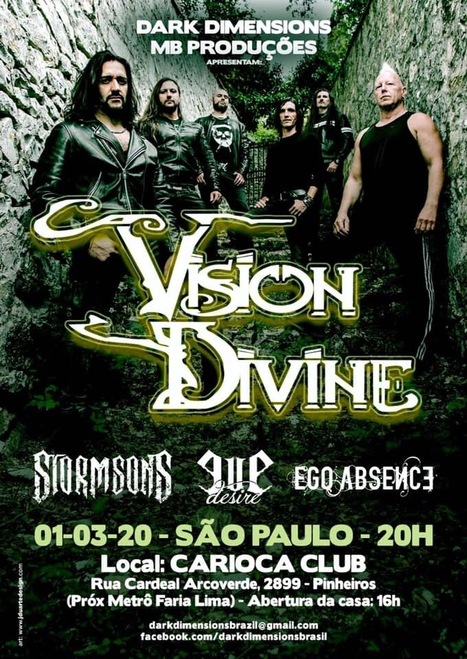 Ingresso Show Vision Divine no Carioca Club - 01 de março