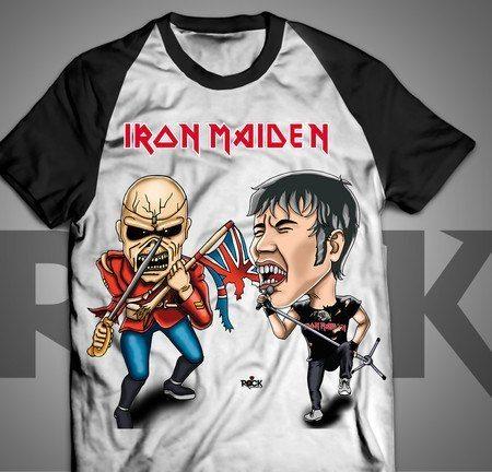 Camiseta Exclusiva Mitos do Rock Iron Maiden