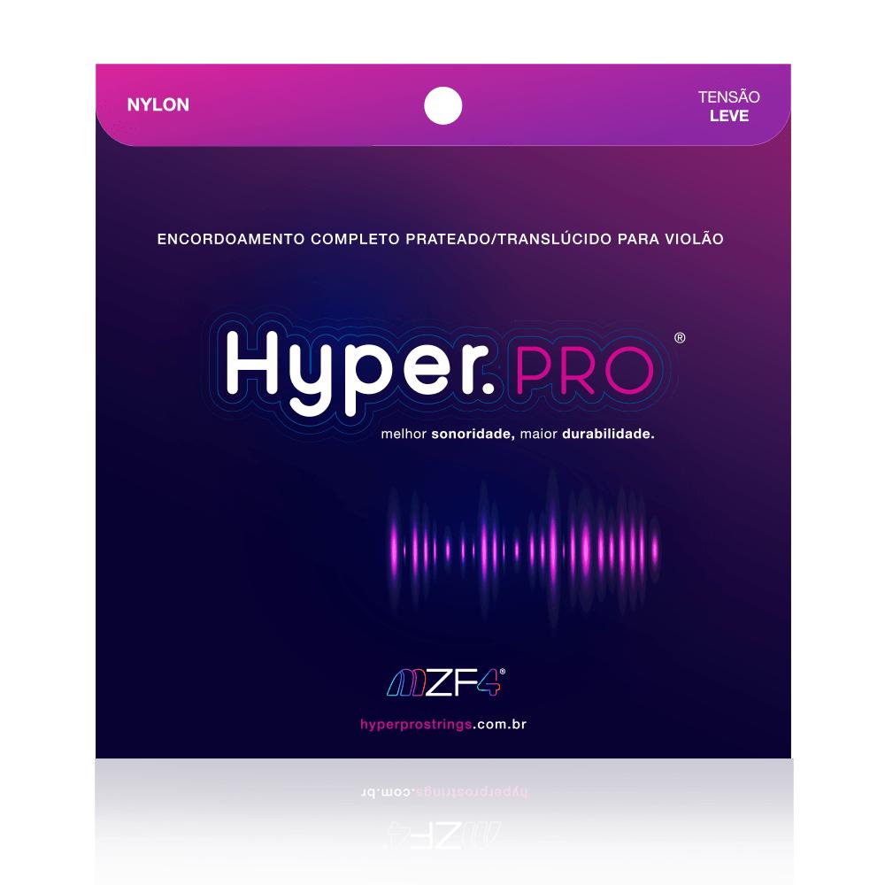 Jogo de Cordas Para Violão Nylon Tensão Leve - Hyper.Pro Strings