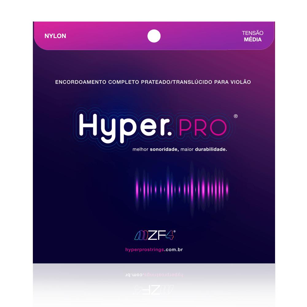Jogo de Cordas Para Violão Nylon Tensão Média - Hyper.Pro Strings