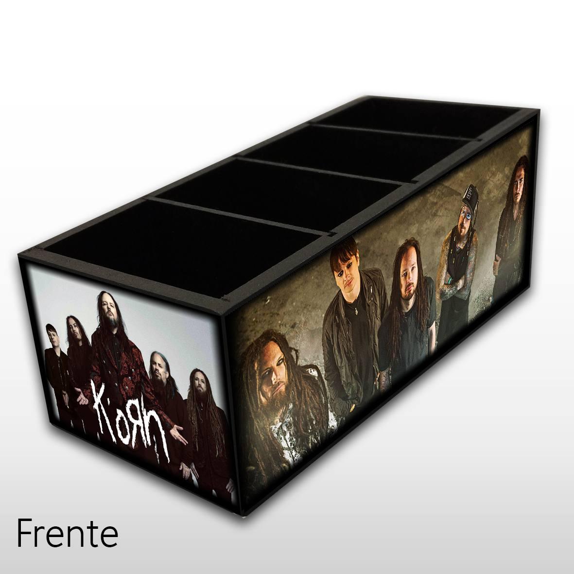 Korn - Porta Controles em Madeira MDF - 4 Espaços - Mr. Rock