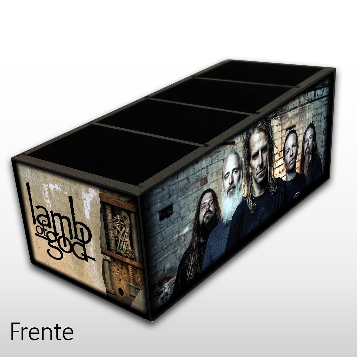 Lamb of God - Porta Controles MDF - 4 Espaços - Mr. Rock