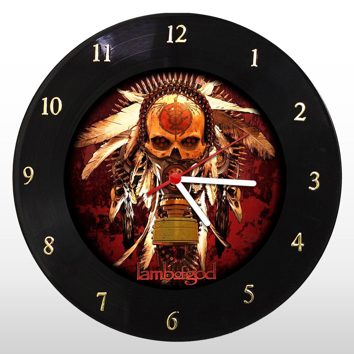 Lamb of God - Relógio de Parede em Disco de Vinil - Mr. Rock