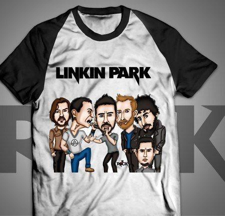 Camiseta Exclusiva Mitos do Rock Linkin Park