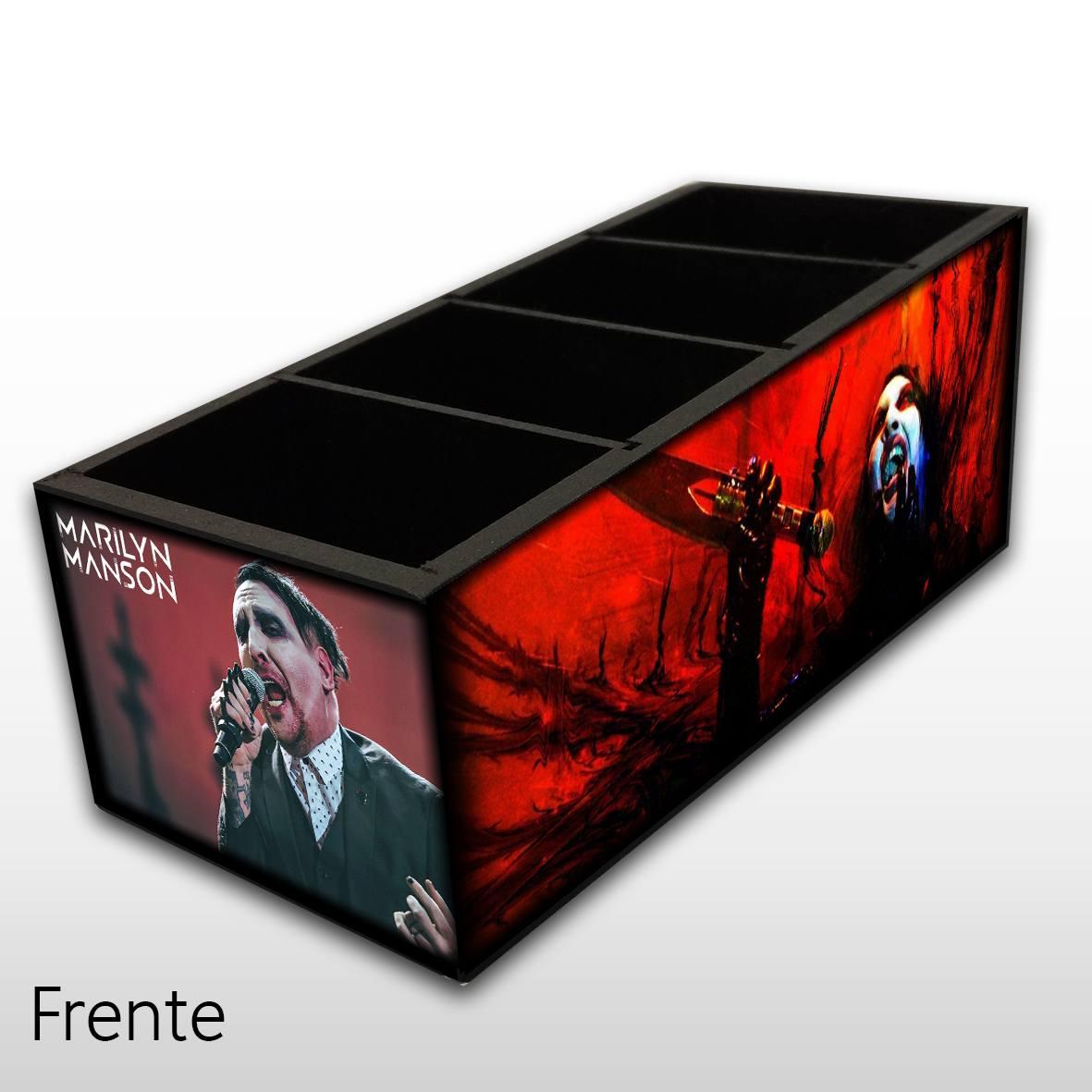 Marilyn Manson - Porta Controles em Madeira MDF - 4 Espaços - Mr. Rock