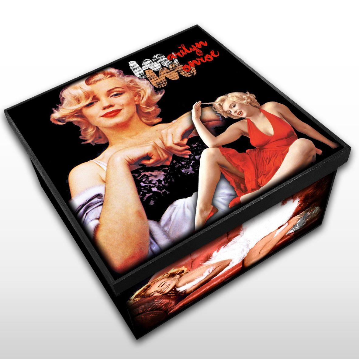 Marilyn Monroe - Caixa em MDF - Tam. Médio - Mr. Rock