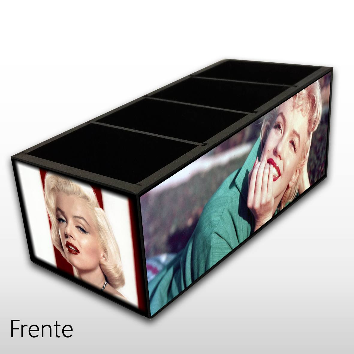 Marilyn Monroe - Porta Controles em MDF - 4 Espaços - Mr. Rock