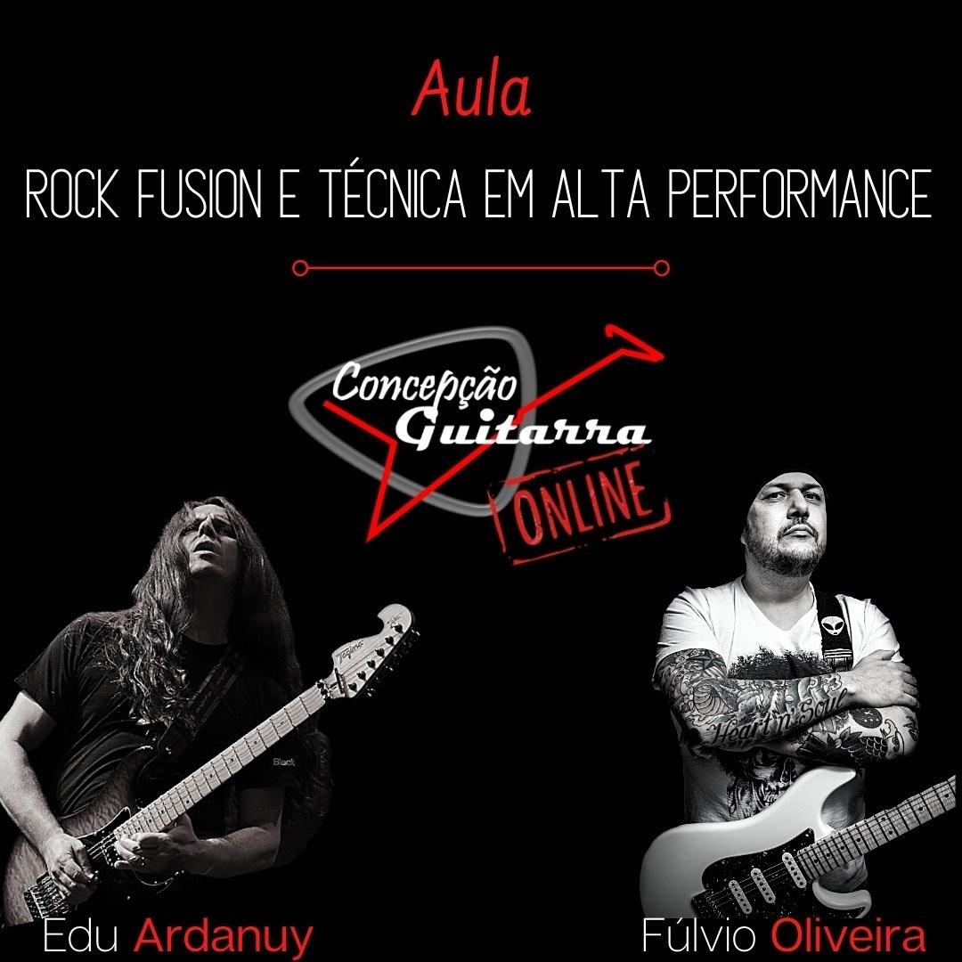 Masterclass de Guitarra ONLINE com os guitarristas Fúlvio Oliveira e Edu Ardanuy