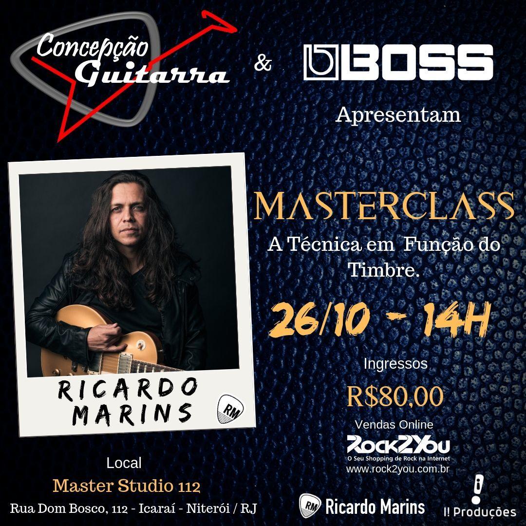MASTERCLASS em Niterói dia 26 de Outubro : A técnica em função do timbre com  Ricardo Marins.
