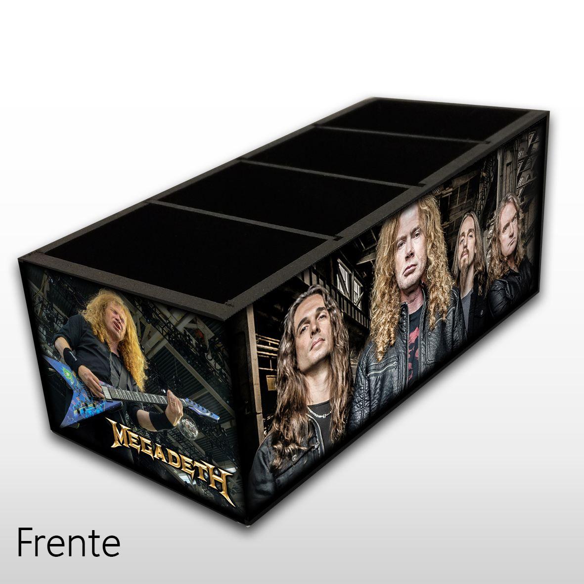 Megadeth - Porta Controles em Madeira MDF - 4 Espaços - Mr. Rock