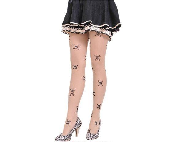 Meia Calça Fake Tattoo Caveirinhas