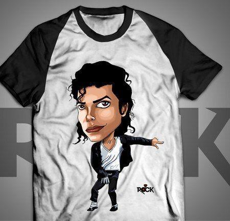 Camiseta Exclusiva Mitos do Rock Michael Jackson