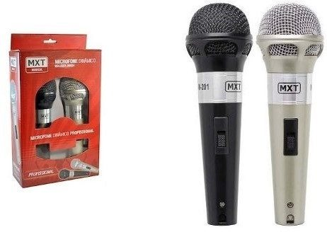 Microfone Dinâmico Duplo  MXT 201