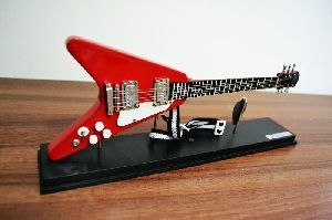 Mini Guitarra Flying V ( Cristal ) - MH51