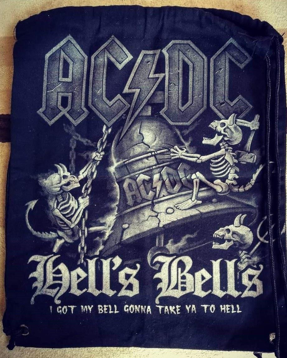 Mochila saco AC DC Hells Bells