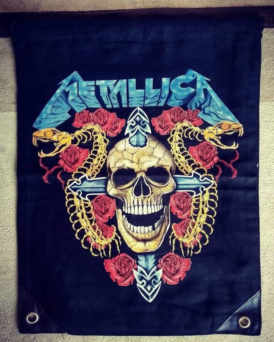 Mochila saco Metallica