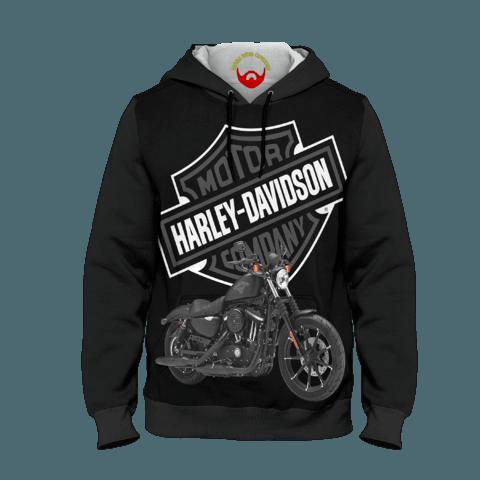 Moletom Harley Davidson com bolsos e capuz