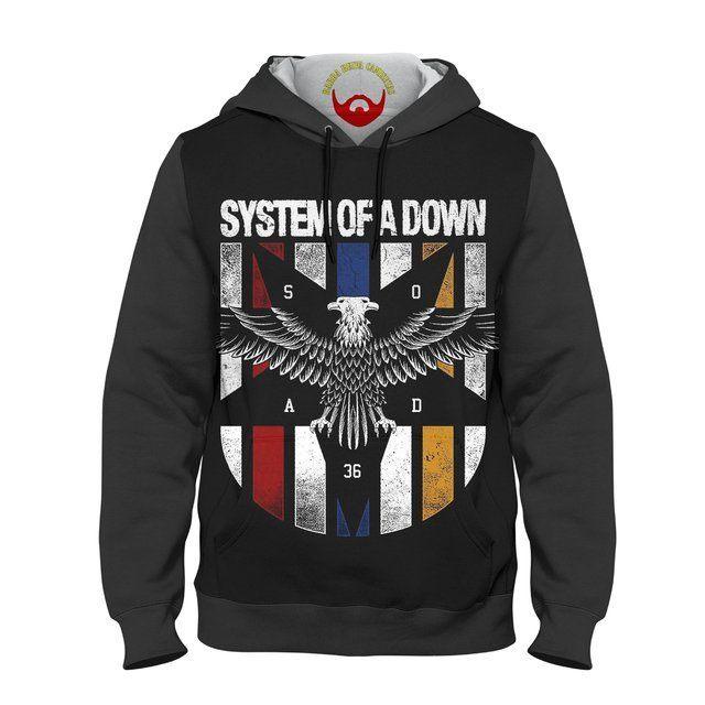 Moletom System Of a Down Eagle