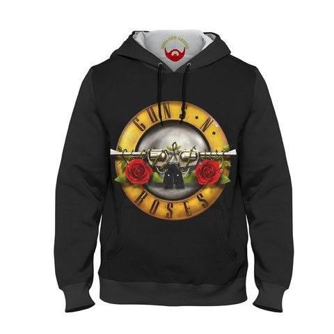 Moletom Unissex Guns N' Roses Logotipo