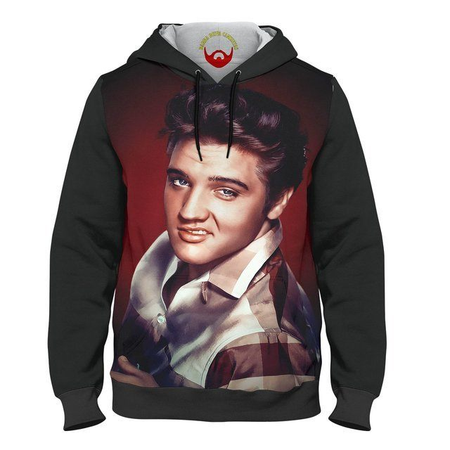 Moletom Unissex Elvis com bolso e capuz
