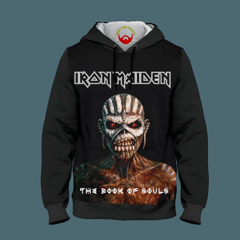 Moleton Iron Maiden com bolso e capuz
