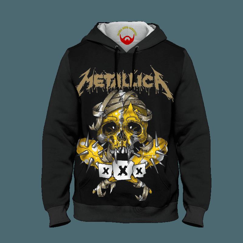 Moleton Metallica com bolso e capuz