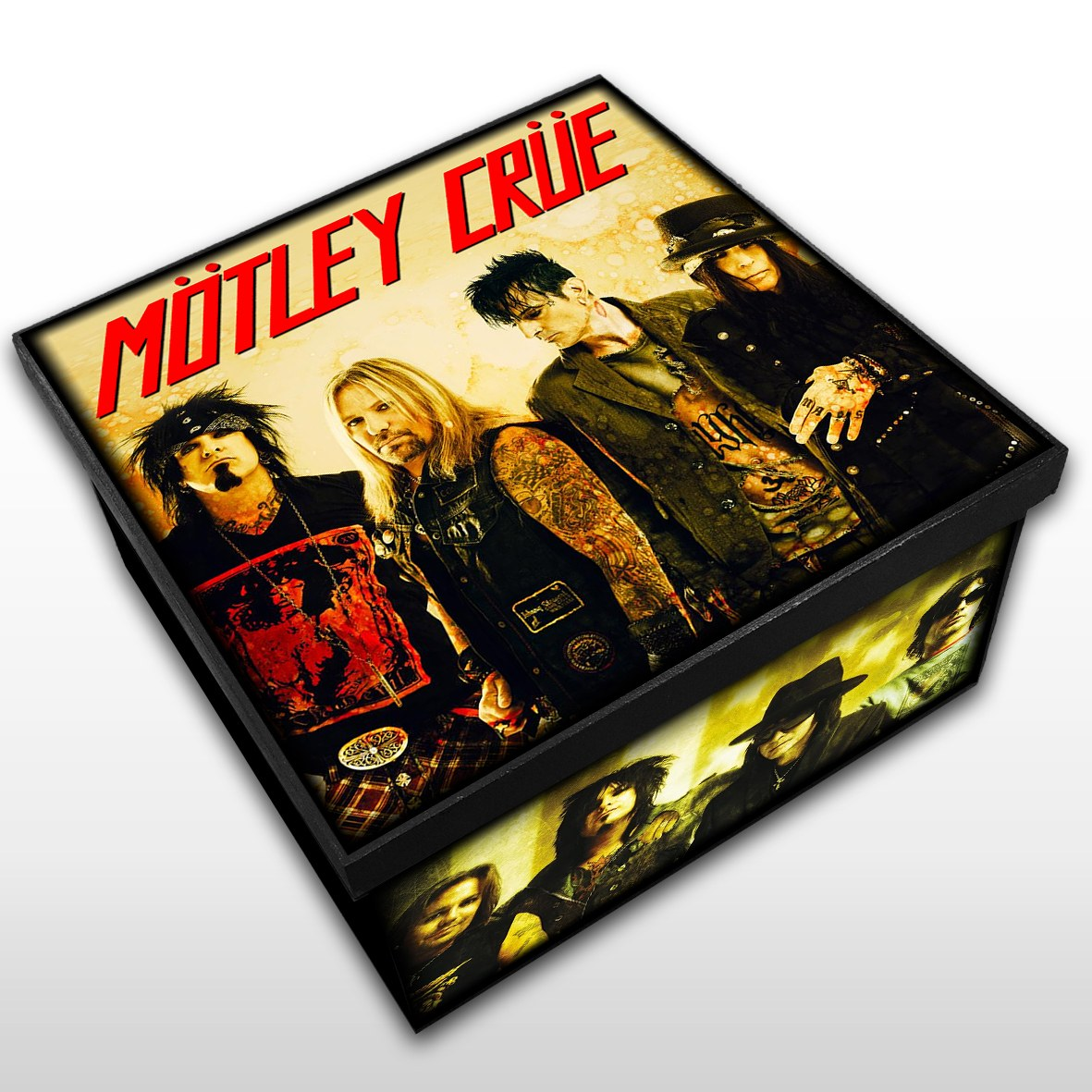 Motley Crue - Caixa Organizadora em Madeira MDF - Tamanho Médio - Mr. Rock