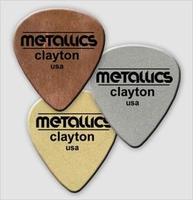 Palheta de metal Clayton Metallics Aço, Cobre ou Latão