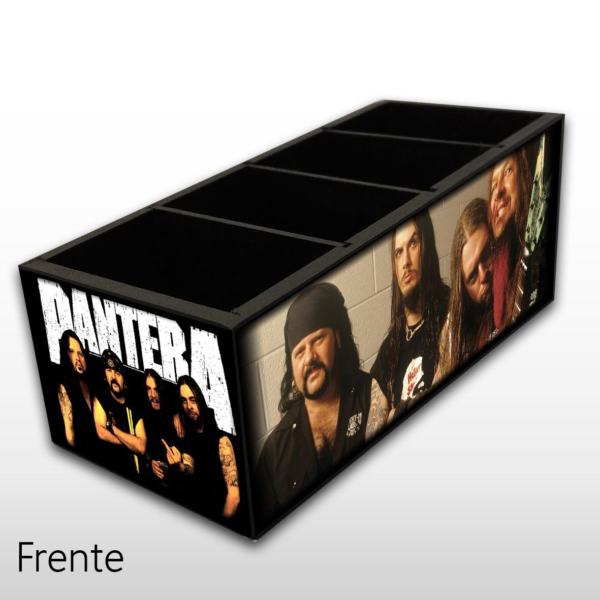 Pantera - Porta Controles em Madeira MDF - 4 Espaços - Mr. Rock