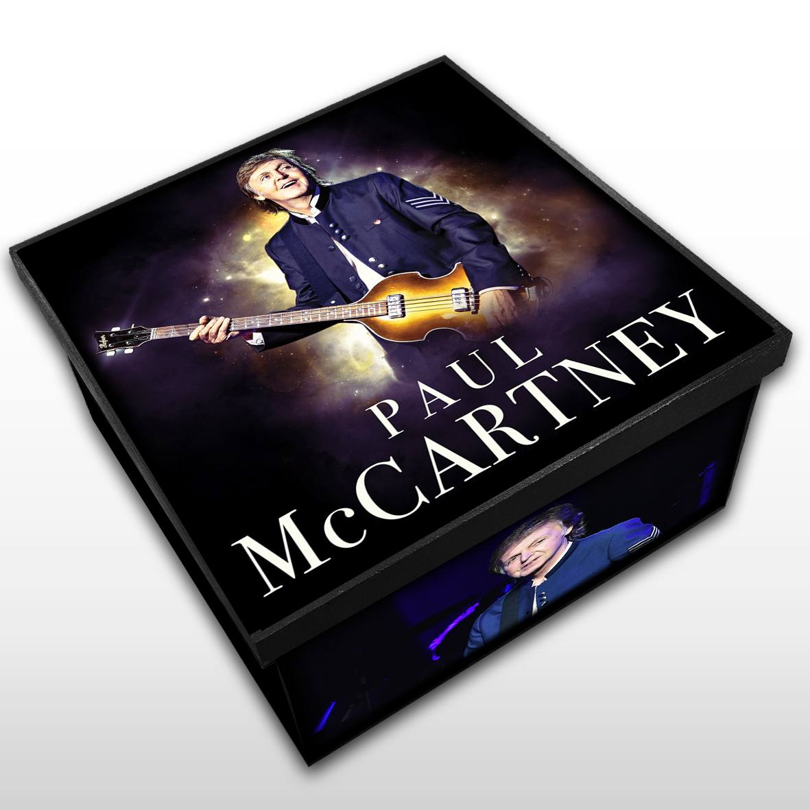 Paul McCartney - Caixa Organizadora em Madeira MDF - Tamanho Médio - Mr. Rock