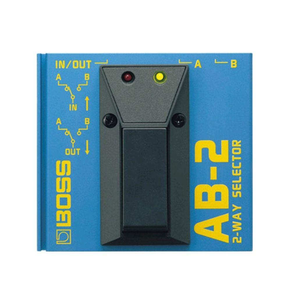 Pedal Seletor de Canais Boss AB-2 Azul com Seletor Footswitch