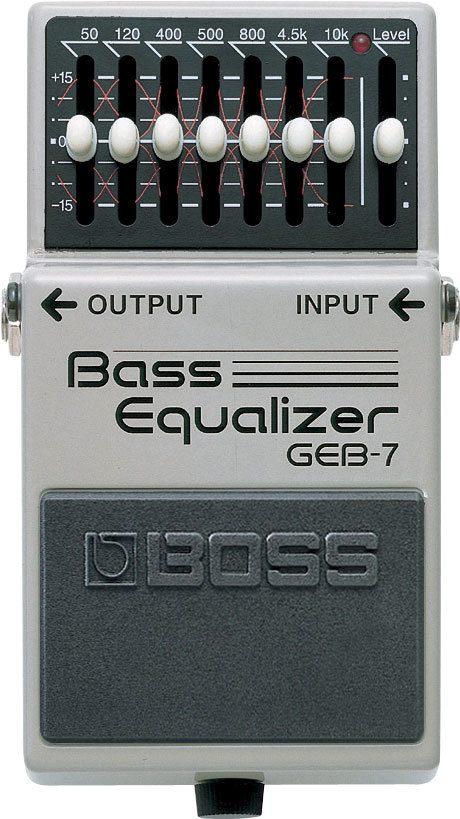 Pedal para Baixo Equalizador Boss GEB-7 Bass Equalizer