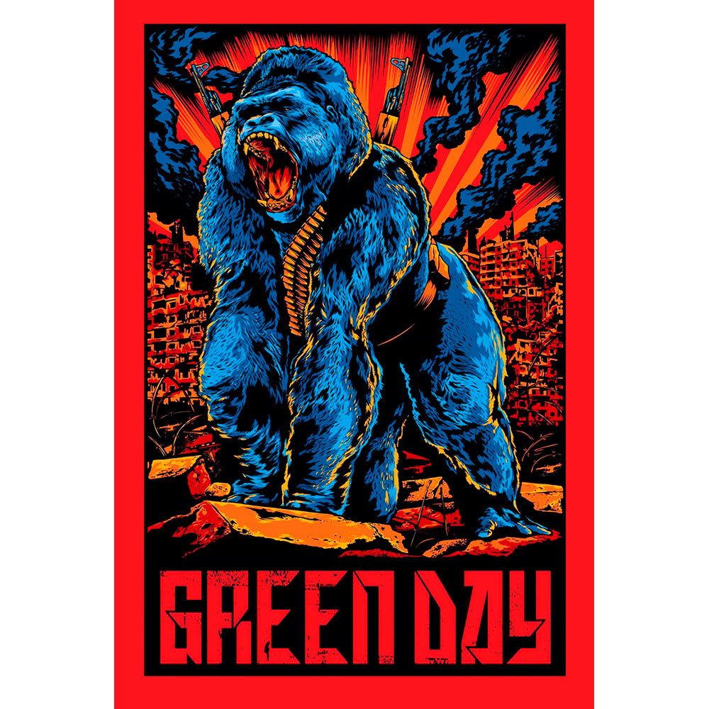 Placa Decorativa Planeta Decor Green Day