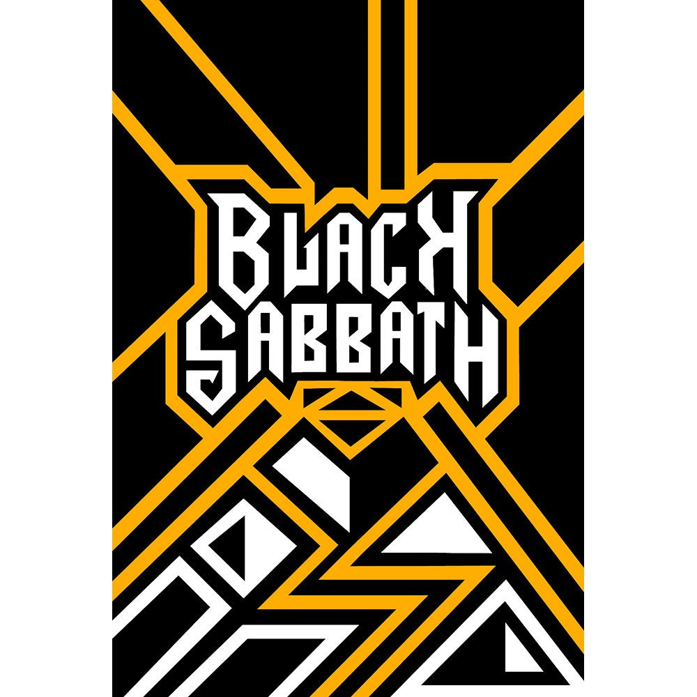 Placa Decorativa Planeta Decor Black Sabbath