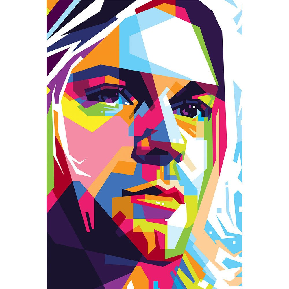Placa Decorativa Planeta Decor Kurt Cobain