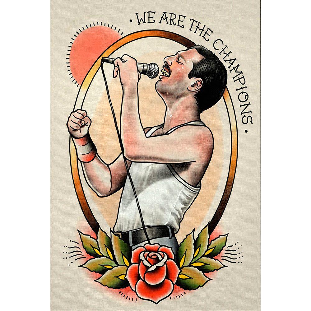 Placa Decorativa Planeta Decor Freddie Mercury