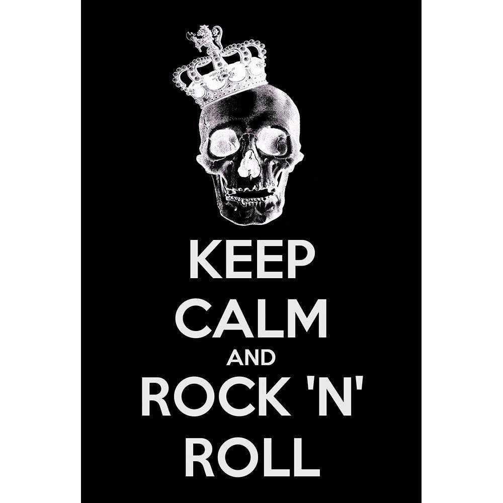 Placa Decorativa Planeta Decor Keep Calm and Rock n' Roll