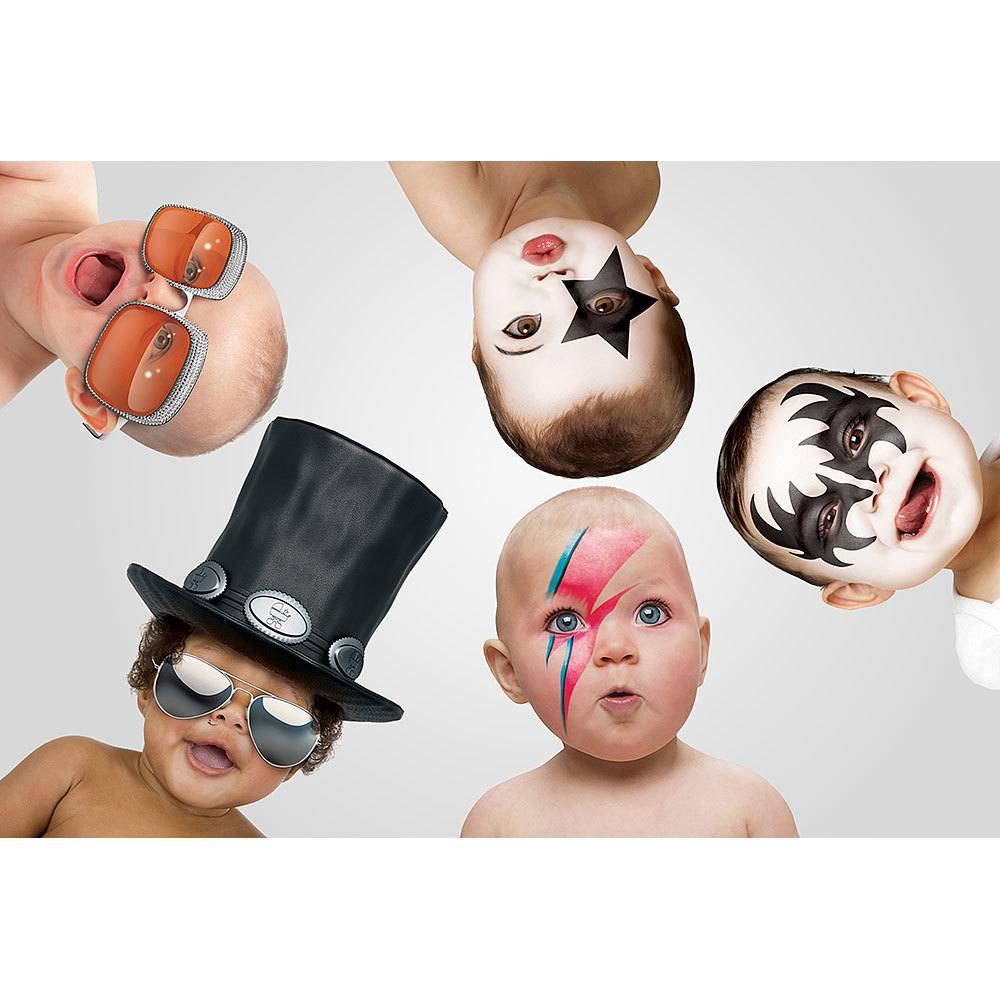 Placa Decorativa Planeta Decor Bebês Rockeiros
