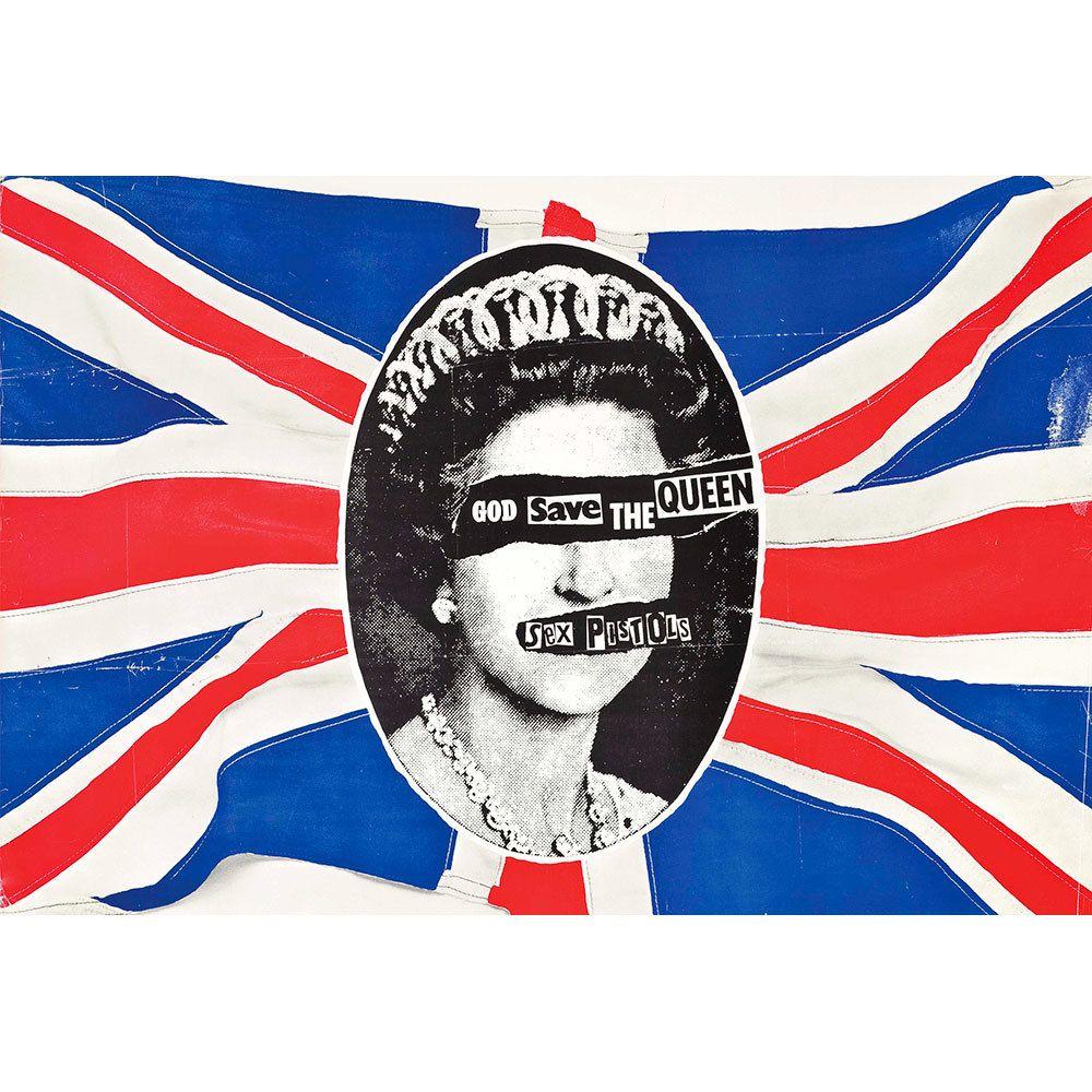 Placa Decorativa Planeta Decor Sex Pistols God Save The Queen