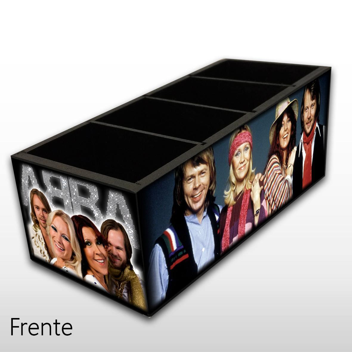 ABBA - Porta Controles em Madeira MDF - 4 Espaços - Mr. Rock