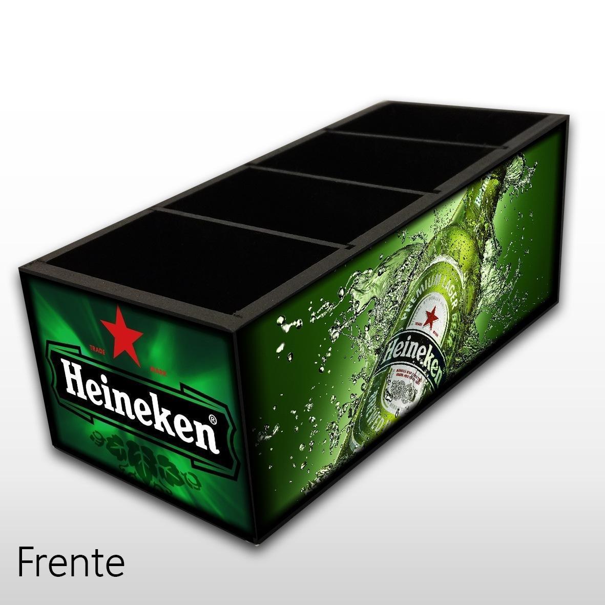 Heineken - Porta Controles em Madeira MDF - 4 Espaços - Mr. Rock